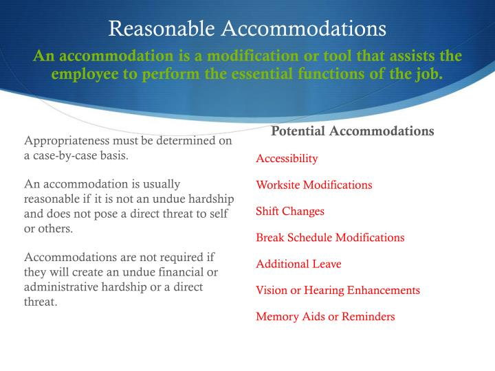 PPT  ADA ACCOMMODATIONS AND THE INTERACTIVE PROCESS