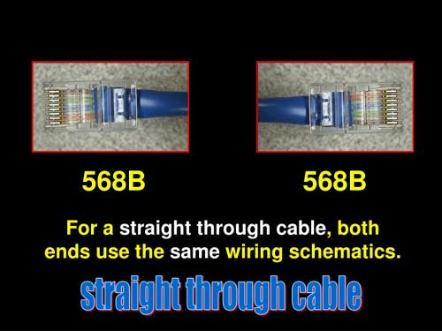 small resolution of 568b 568b for a straight through cable both ends use the same wiring schematics straight through cable
