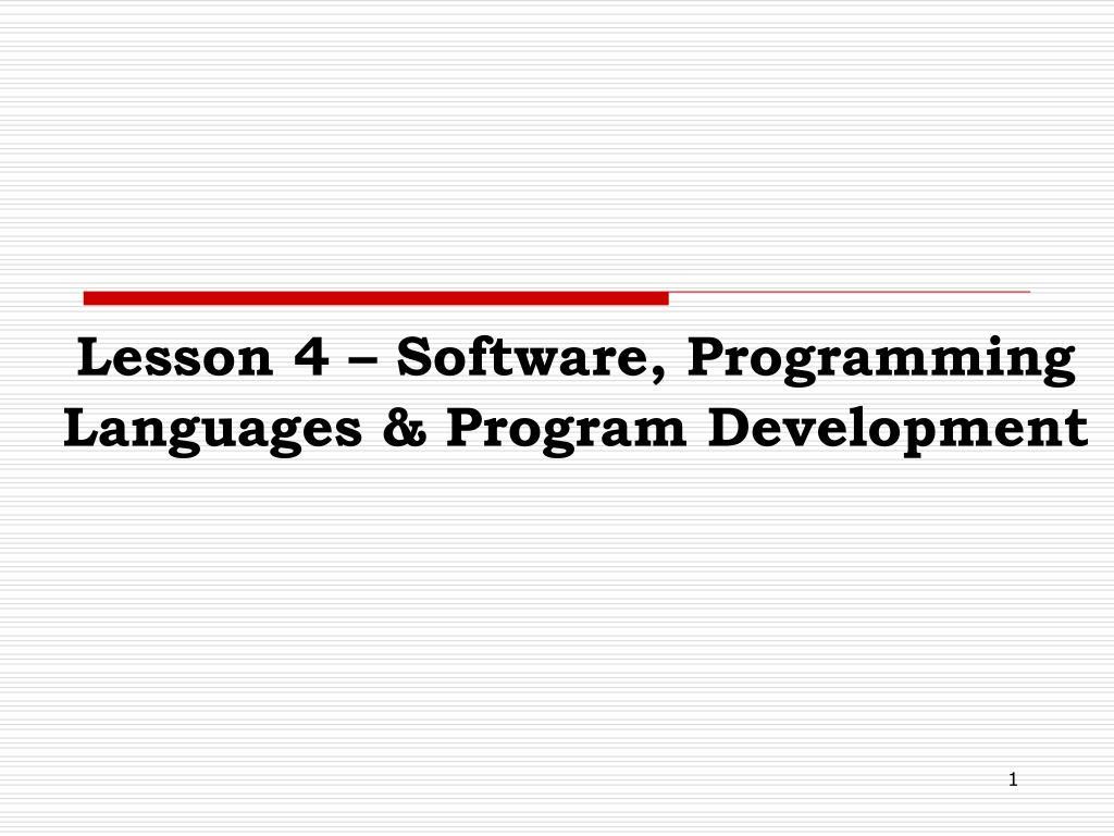 PPT - Lesson 4