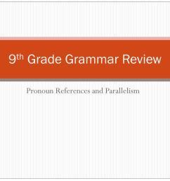 PPT - 9 th Grade Grammar Review PowerPoint Presentation [ 768 x 1024 Pixel ]