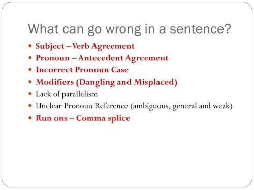 small resolution of PPT - 9 th Grade Grammar Review PowerPoint Presentation