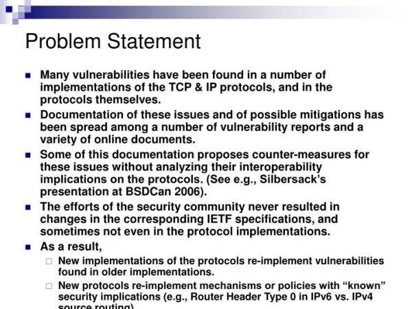 PPT Some insights about the recent TCP DoS Denial of