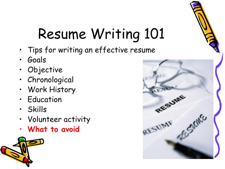PPT  Resume Writing 101 PowerPoint Presentation  ID6518336