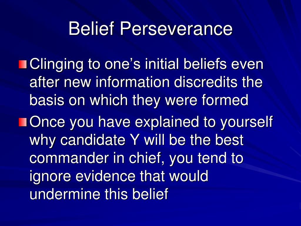 50 Belief Perseverance
