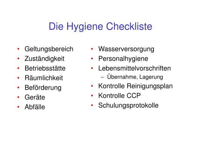 Haccp Küche Checkliste | Businessplan Chefkoch ...