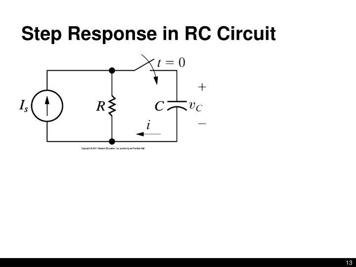 step response of an rc circuit