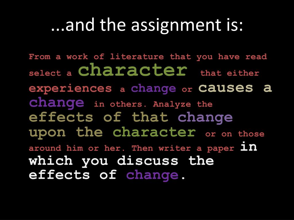 PPT - Character Change: The Essay! PowerPoint Presentation. free download - ID:6543494