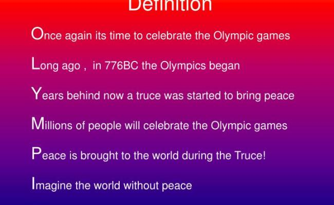 Ppt The Olympic Truce Powerpoint Presentation Id 6563239