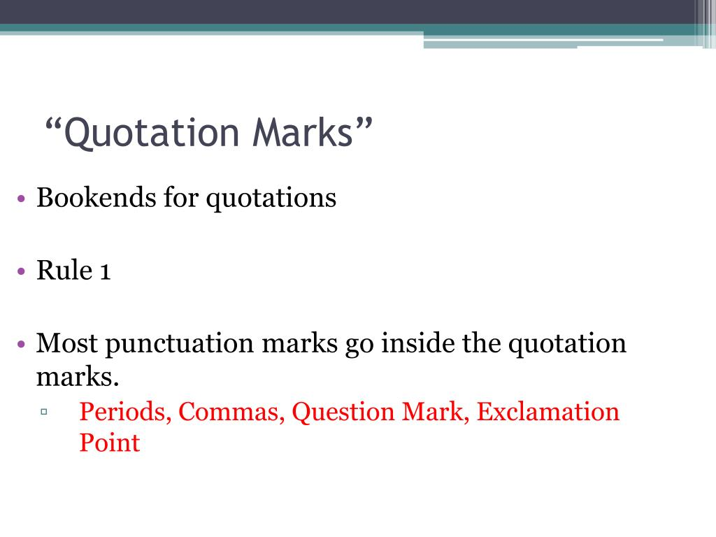 Quotation Marks And Commas In A Sentence