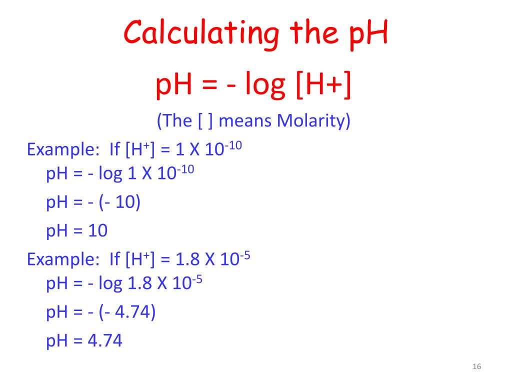 How To Find Molar Concentration From Ph