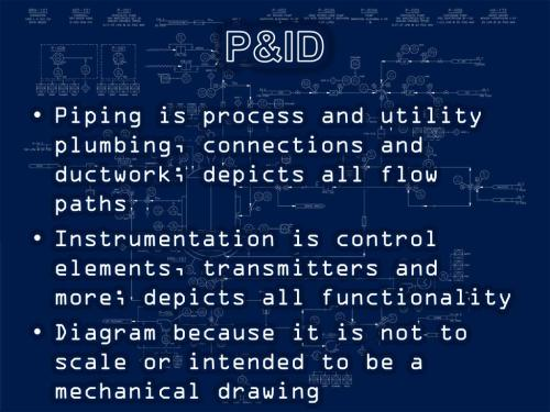 small resolution of p id piping is process and utility plumbing connections and ductwork depicts all flow paths instrumentation is control elements transmitters and more