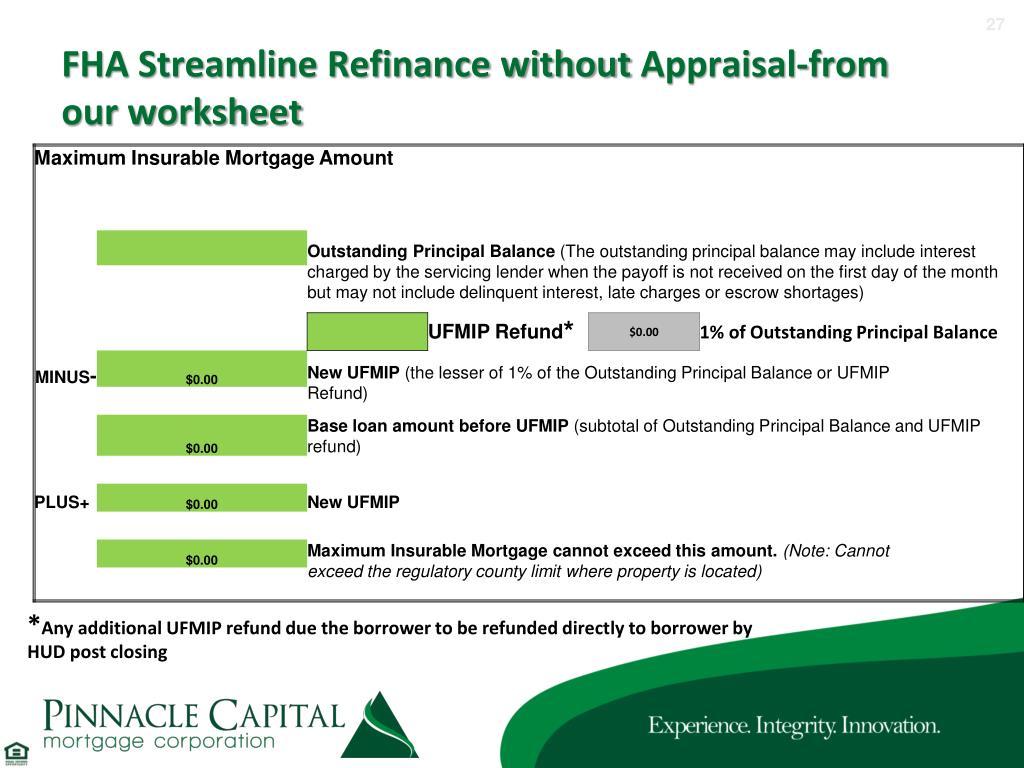 Fha Streamline Worksheet Fillable
