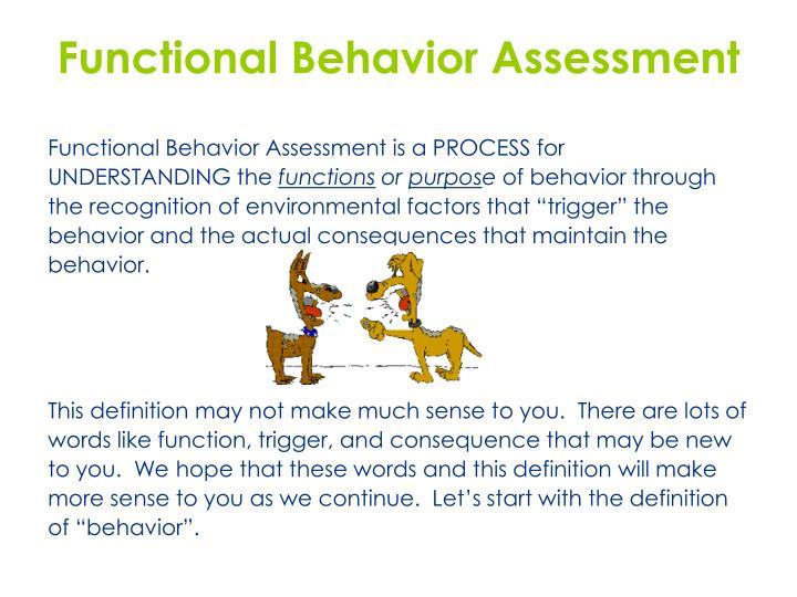 Functional Behavior Assessment. Functional Behavior Assessment Video ...