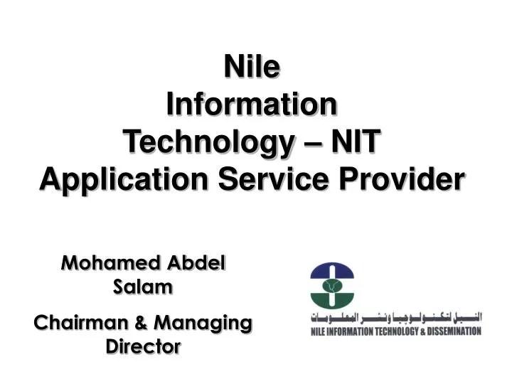 PPT - Nile Information Technology