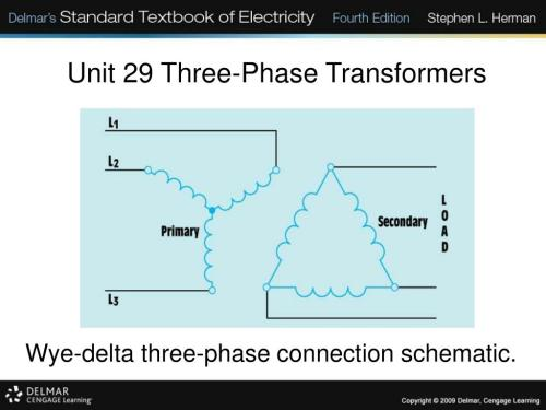 small resolution of unit 29 three phase transformers wye delta three phase connection schematic