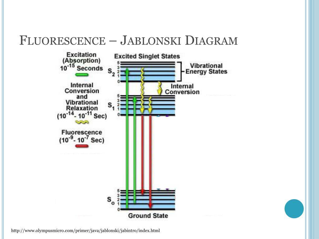 hight resolution of fluorescence jablonski diagram