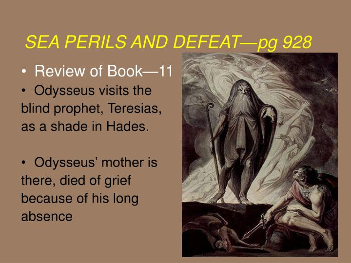 Blind Prophet In The Odyssey Ppt Review Of Book11