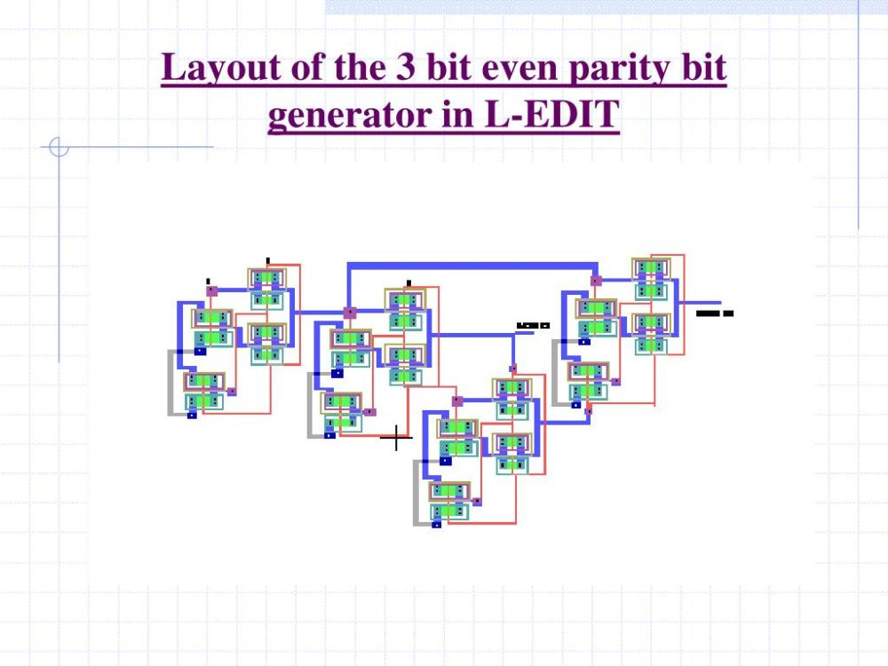 medium resolution of layout of the 3 bit even parity bit generator in l edit