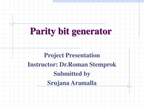 small resolution of parity bit generator powerpoint ppt presentation