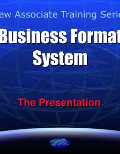 Business format system powerpoint ppt presentation also id rh slideserve