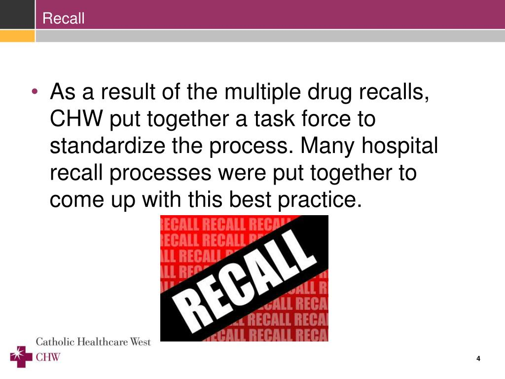 PPT - Pharmaceutical Recall Process PowerPoint ...