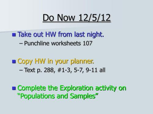 small resolution of PPT - Do Now 12/5/12 PowerPoint Presentation