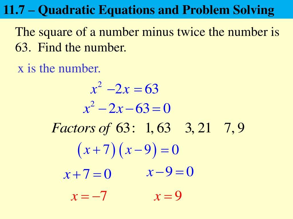 Fun Practice And Test Quadratic Equations Problem Solving