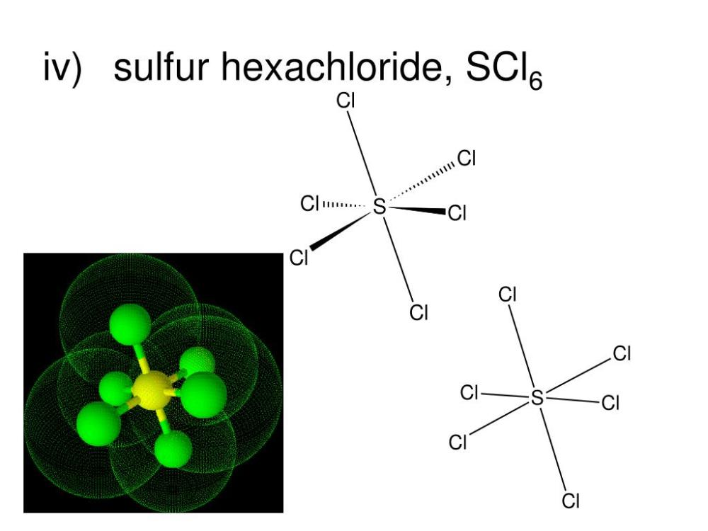 medium resolution of iv sulfur hexachloride scl6