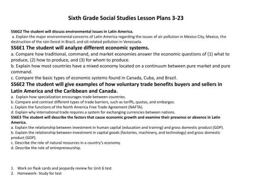 small resolution of PPT - Sixth Grade Social Studies Lesson Plans 3-21 PowerPoint Presentation  - ID:6905377