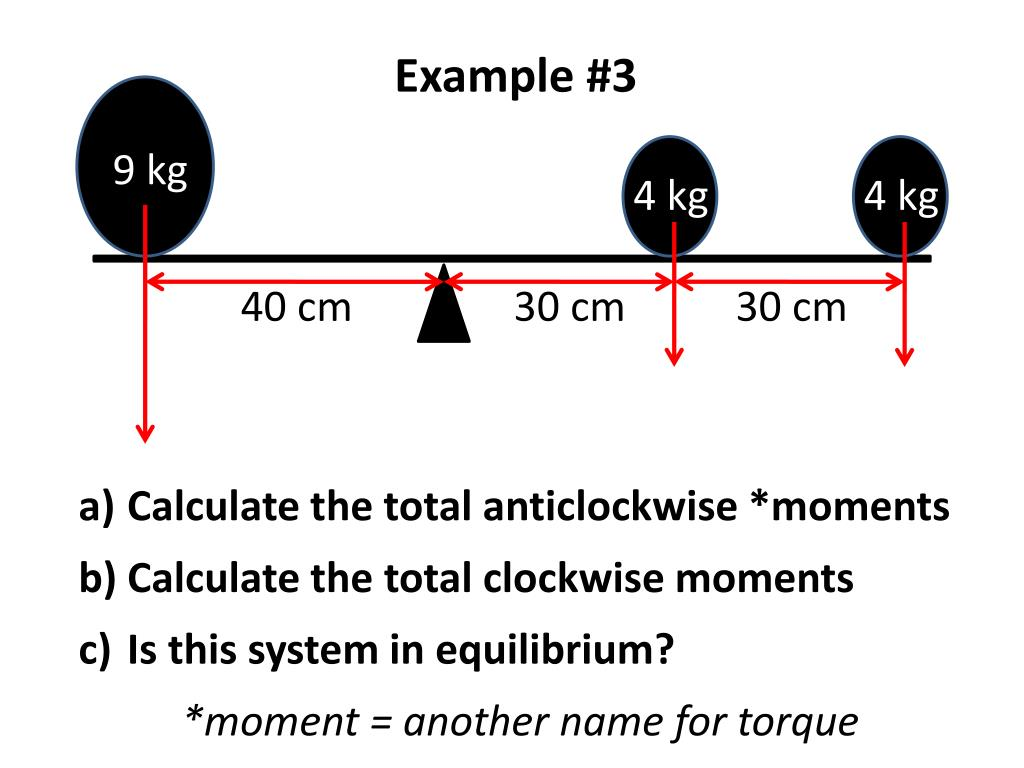hight resolution of PPT - Calculate the total anticlockwise *moments Calculate the total  clockwise moments PowerPoint Presentation - ID:6932098