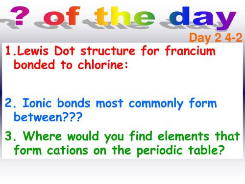 small resolution of  2 4 2 lewis dot structure for francium bonded to chlorine 2 ionic bonds most commonly form between 3 where would you find elements that form