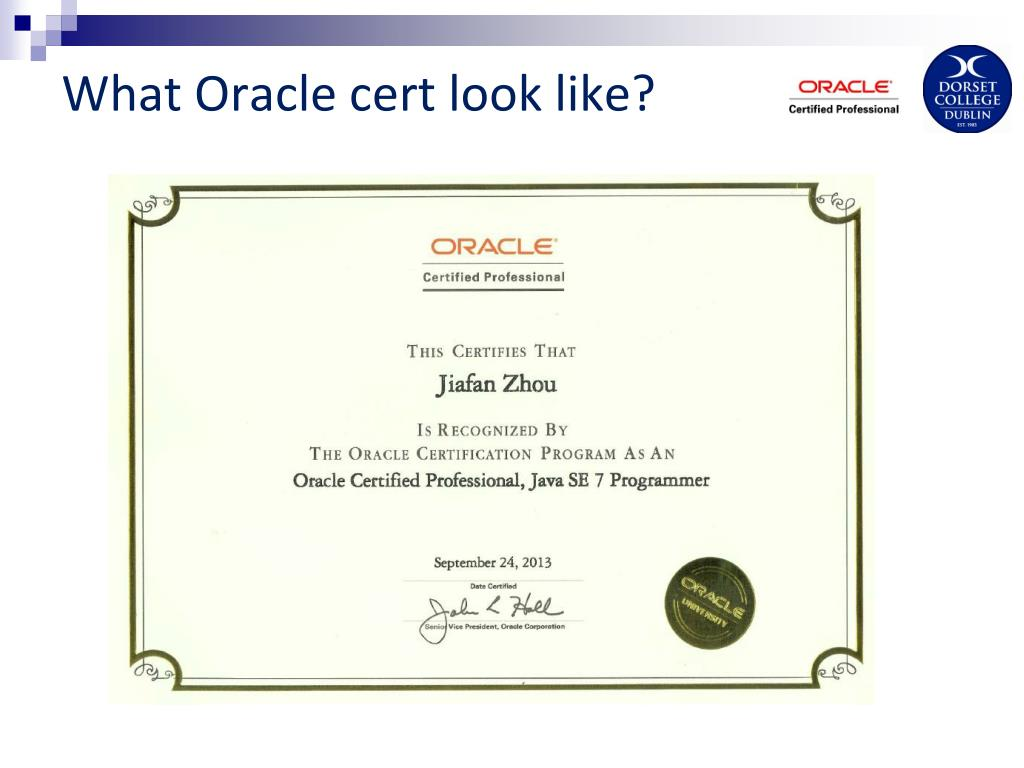 PPT - Oracle Certified PowerPoint Presentation. free download - ID:7010860
