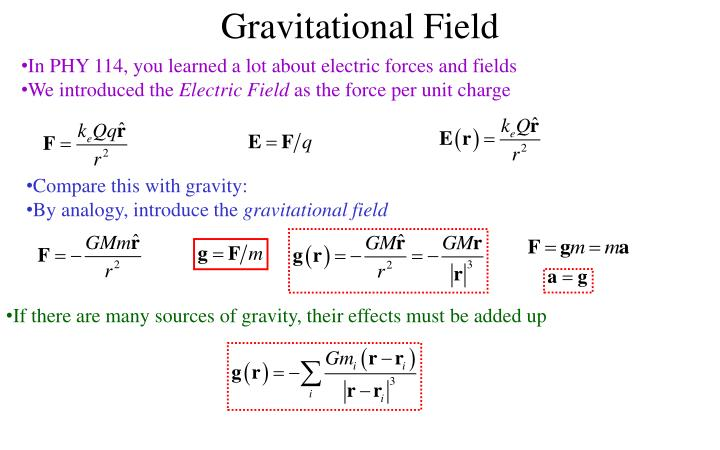 PPT - Gravitational Potential Energy The potential energy is the (negative of the) integral of the force PowerPoint Presentation - ID:7030200