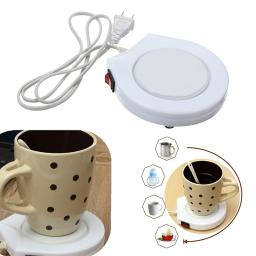 Unique White Electronic Powered Cup Warmer Heater Pad Coffee Milk Mug US  Plug