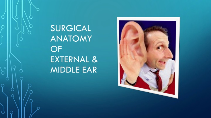 PPT - SURGICAL ANATOMY OF EXTERNAL & MIDDLE EAR PowerPoint ...