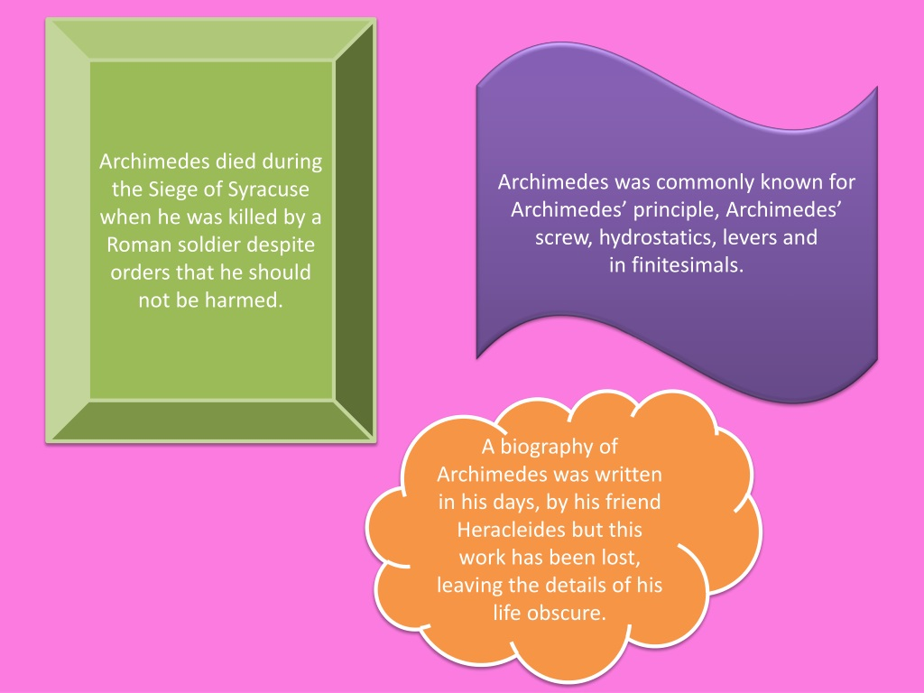 Philosopher Archimedes Biography Greek
