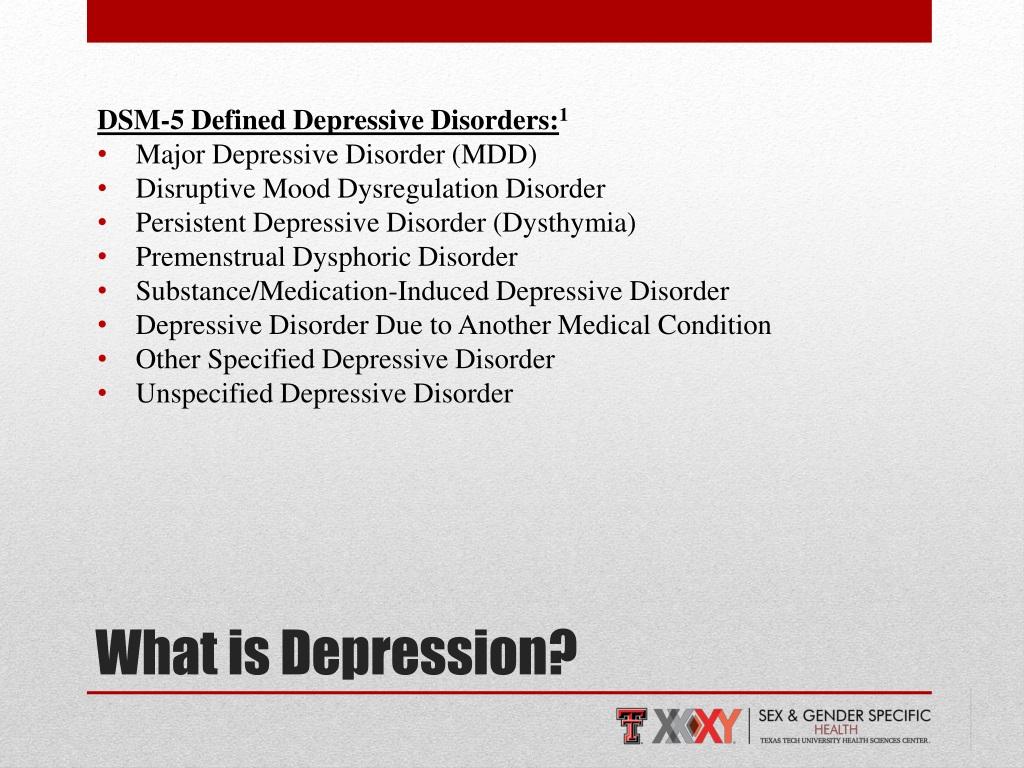 PPT - Major Depressive Disorder & Sex and Gender ...