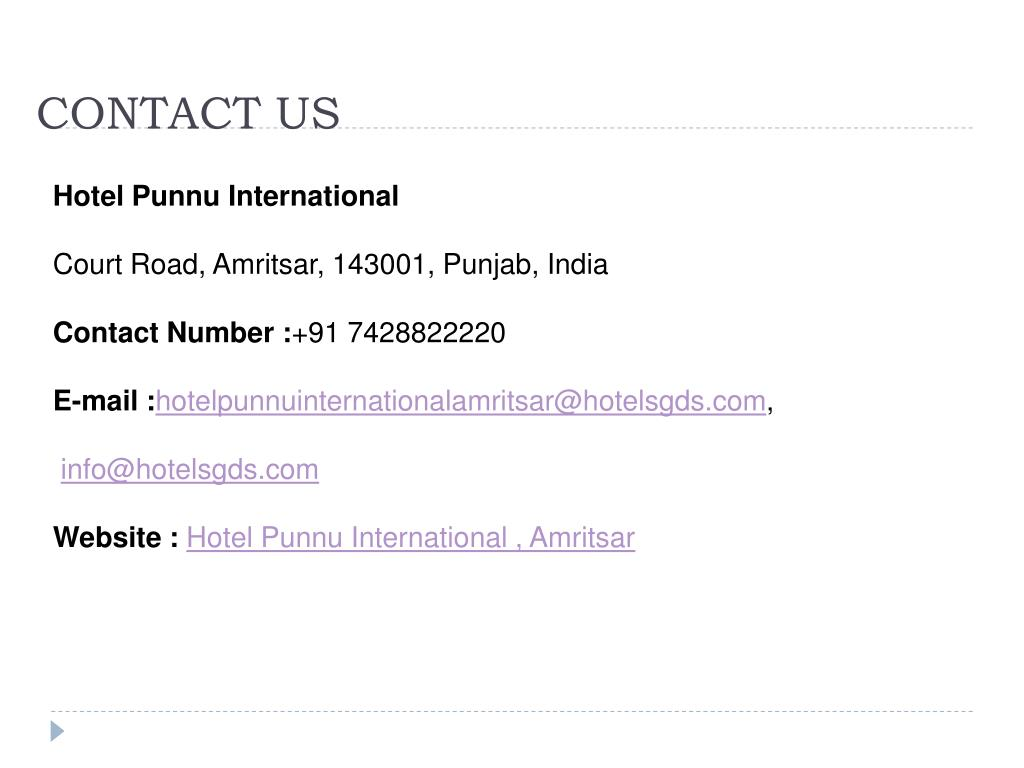 Ppt Hotel Punnu International Powerpoint Presentation