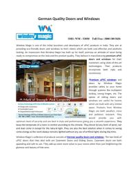 PPT - German Quality Doors and Windows PowerPoint ...