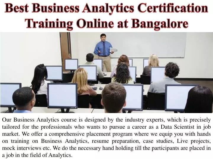 Ppt  Best Business Analytics Certification Training