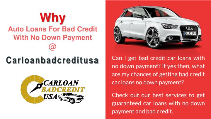 Bad Credit Auto Loans Guaranteed Approval