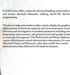 cadd center offers courses for electrical building understudies to make and oversee electrical schematics utilizing autocad electrical plan  [ 1024 x 768 Pixel ]