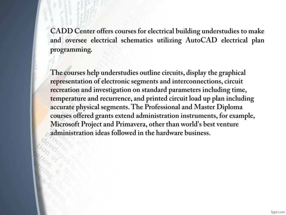 medium resolution of cadd center offers courses for electrical building understudies to make and oversee electrical schematics utilizing autocad electrical plan