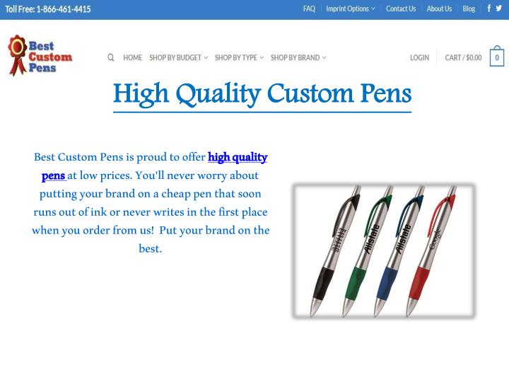 PPT - Best Custom Promotional Pens PowerPoint Presentation ...