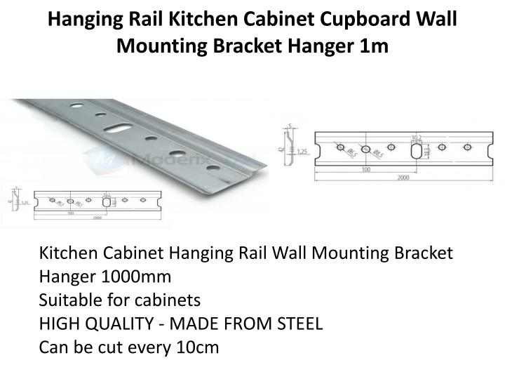 Cabinet Hanging Wall Mounting Rail Bracket Lovequilts