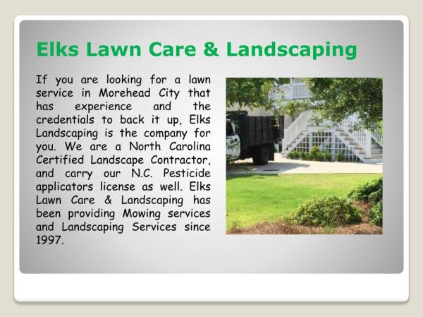 ppt - landscaping services morehead