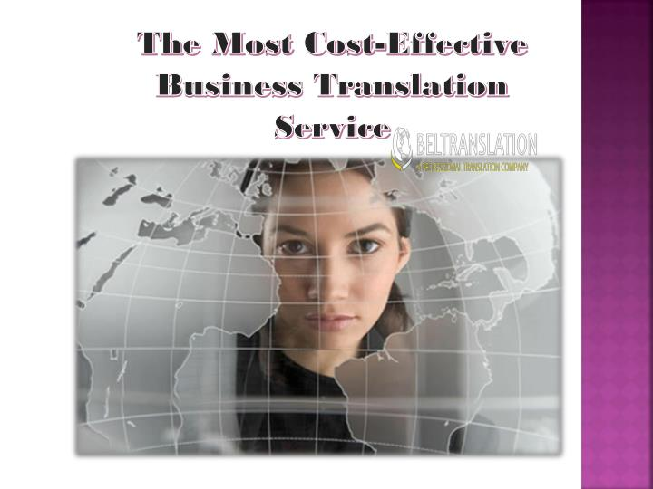 Ppt  The Most Costeffective Business Translation Service