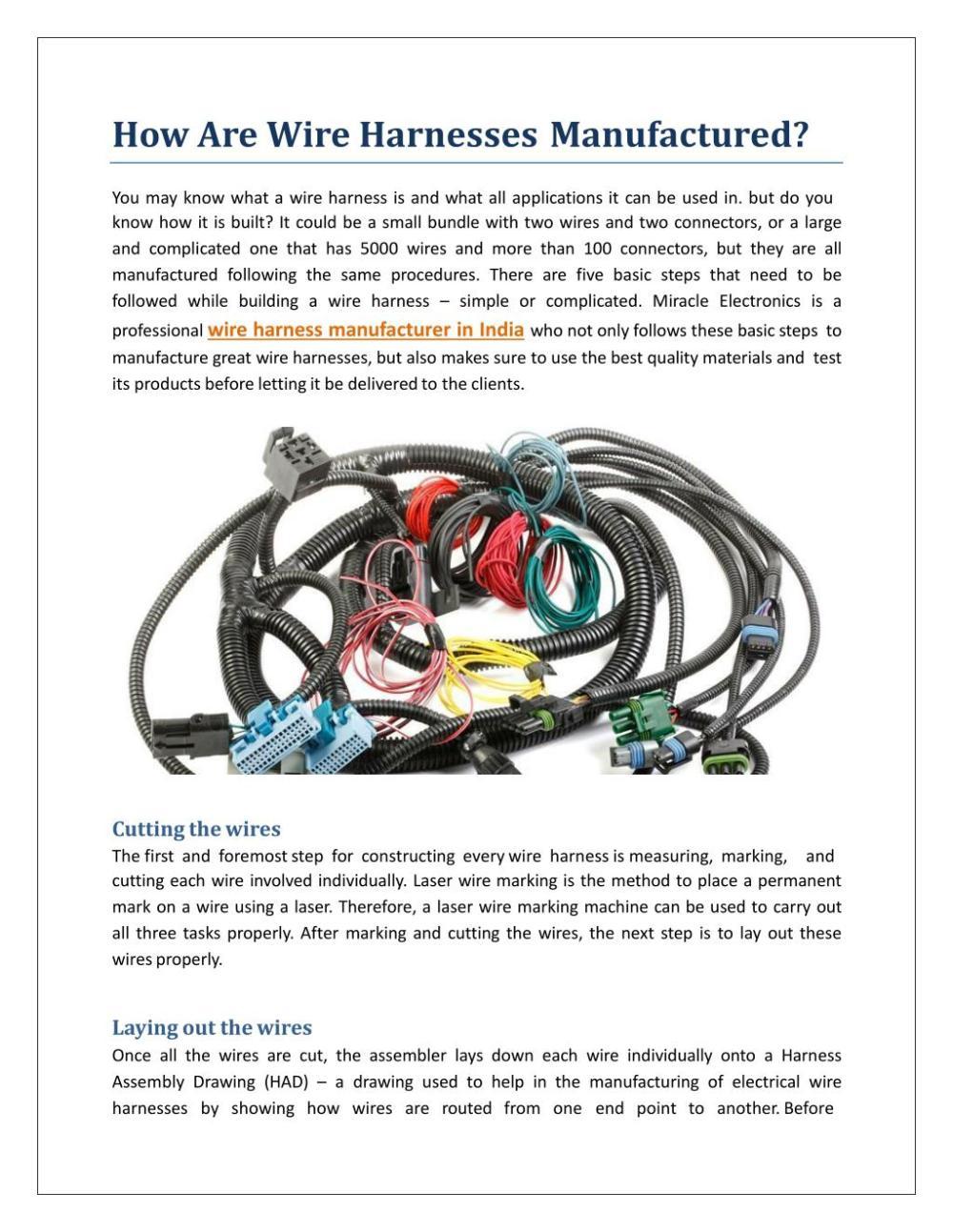 medium resolution of how are wire harnessesmanufactured youmayknowwhatawireharnessisandwhatallapplicationsitcanbeusedin butdoyou