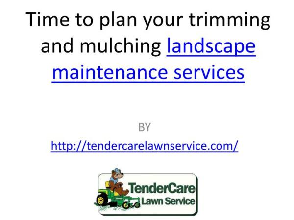 25+ Lawn Landscape Maintenance Plan Pictures and Ideas on