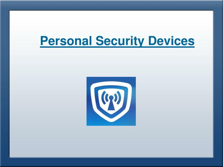 Personal Security Gadgets